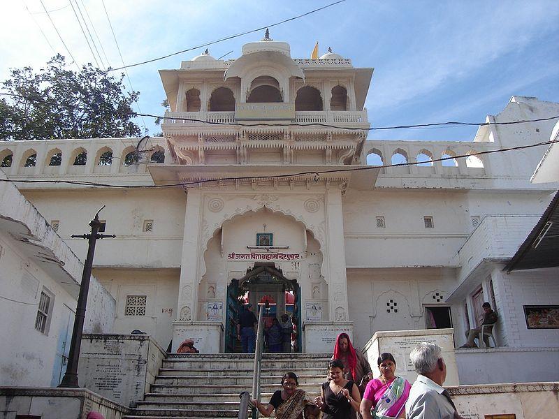 Brahma Temple's main entrance