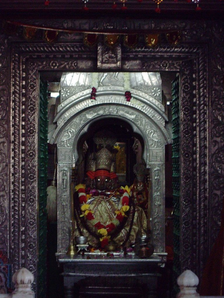 The Brahma idol in the Brahma temple