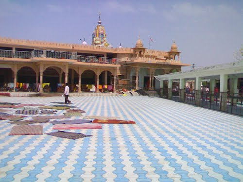 Butati Dham mandir courtyard