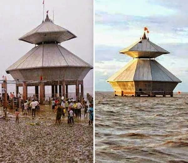 Stambheshwar temple submerging into the sea