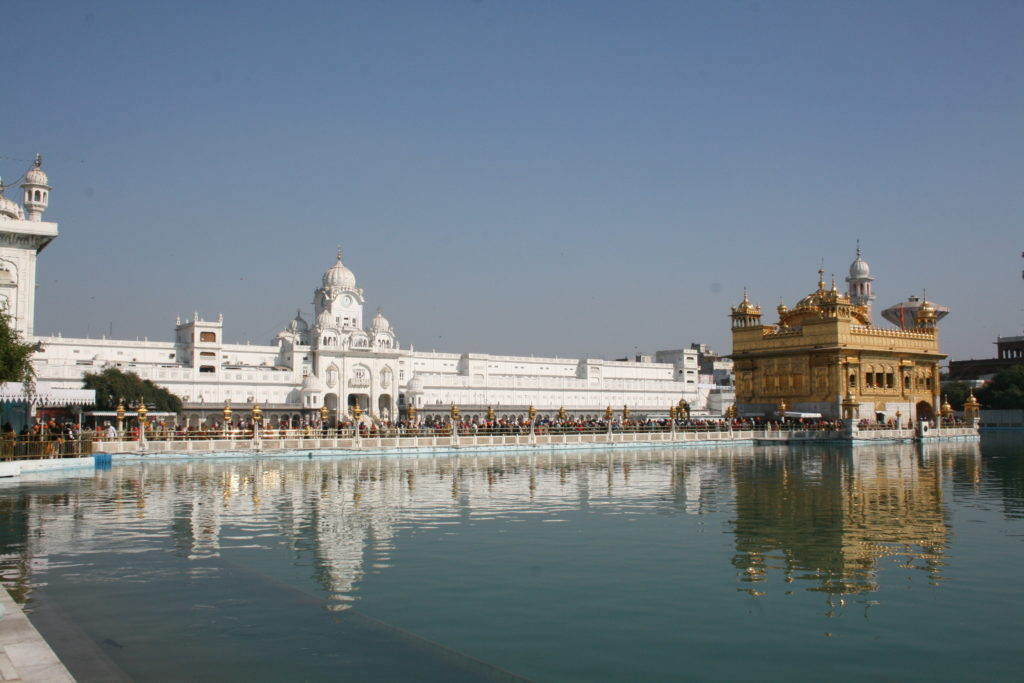 The pond in the premises of the Golden Temple
