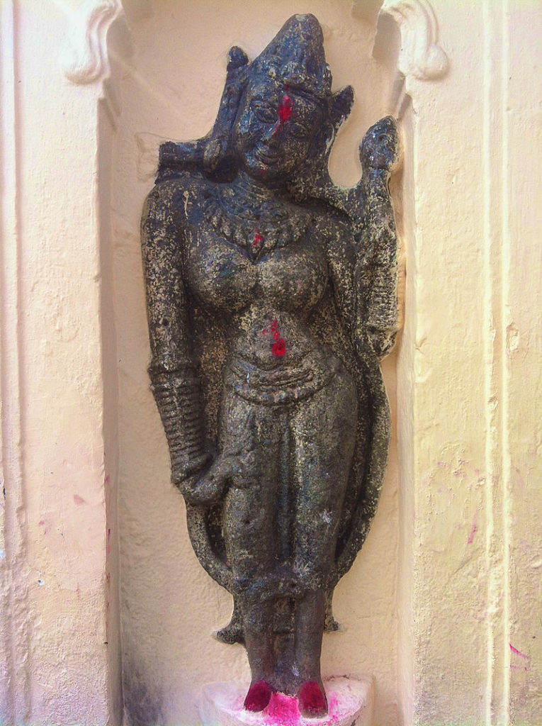 Goddess Kamakhya's sculpture in Kamakhya temple