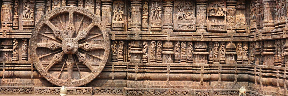 Carvings on the walls of the Sun Temple Konark