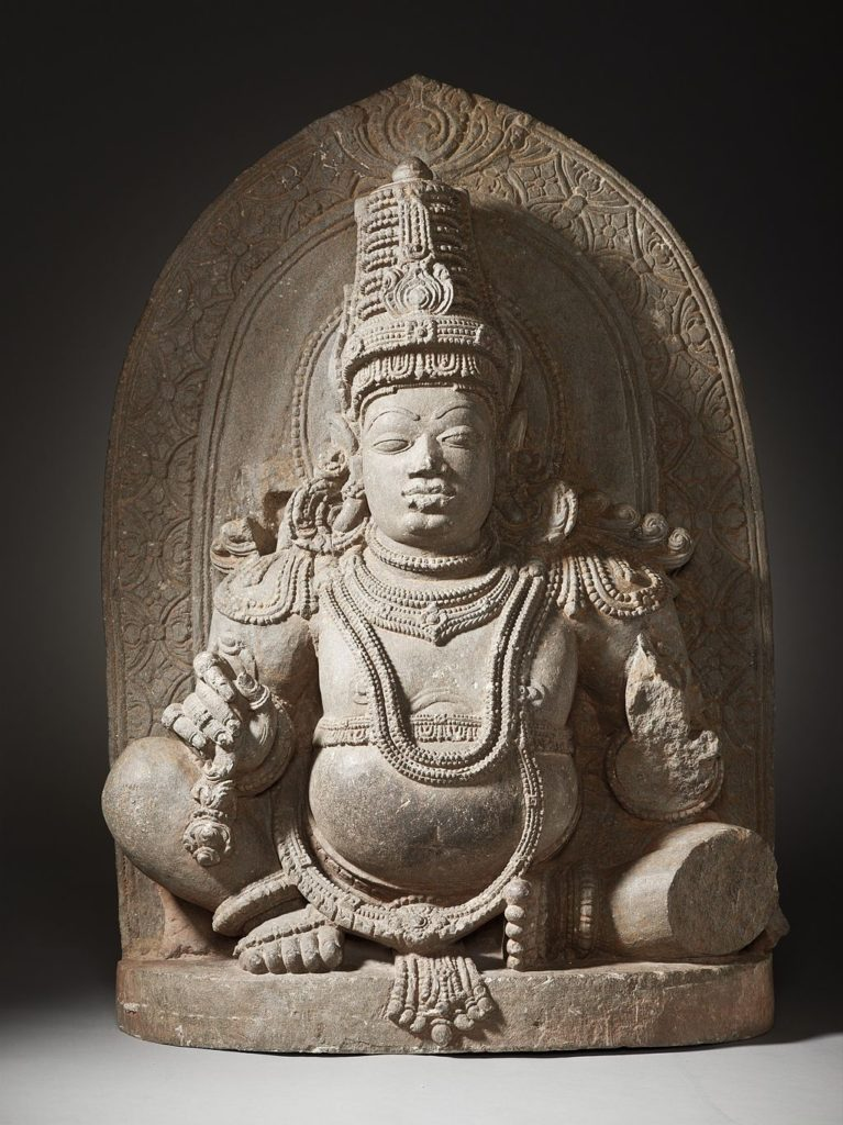 The idol of Lakshmi Kuberar Temple 's Lord Kuberar