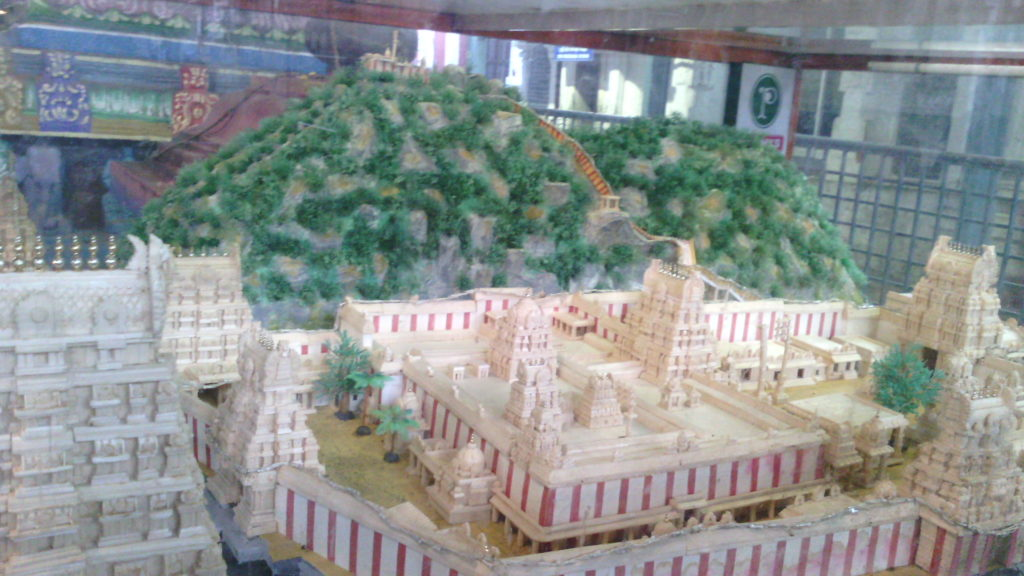 Kalahasti Temple's Miniature Model