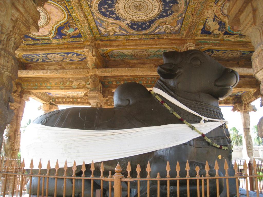 One of the Nandi statue at Brihadeeswarar Temple