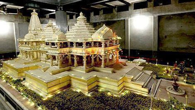 Ram Temple model in Ayodhya