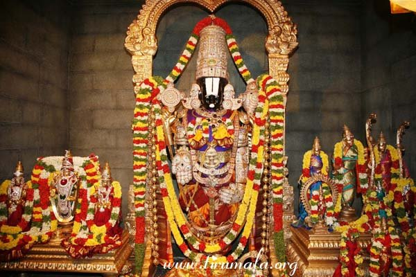 Idol of Venkateswara Temple's Garbhagriha