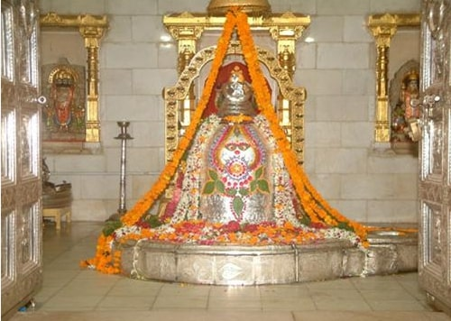 The idol of lord shiva in Somnath temple