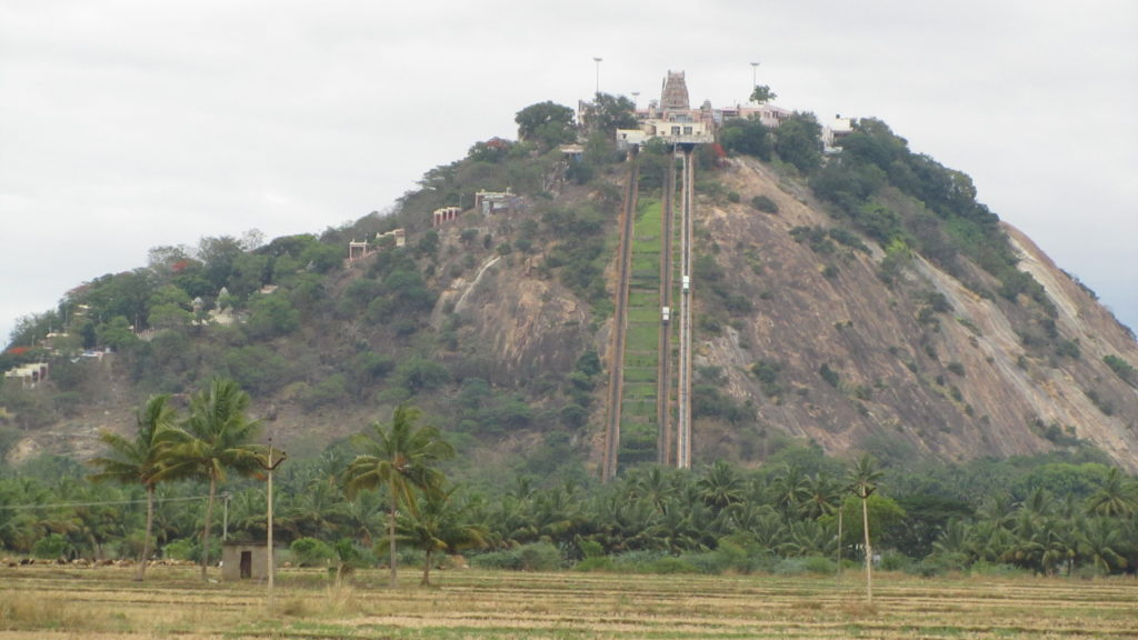 The View of Palani Murugan Hill Temple.
