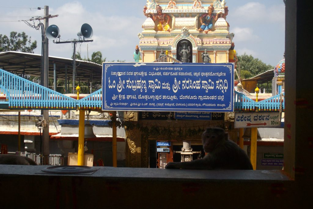 The main entrance of the Temple