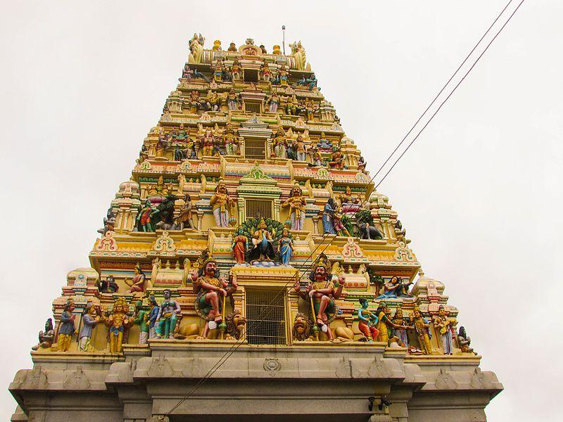 Gopuram of shri ghati subramanya swamy temple