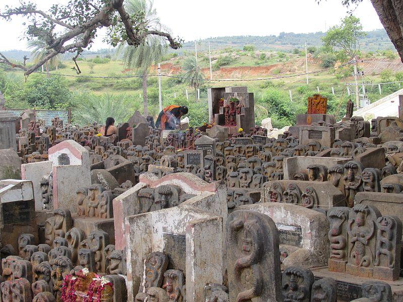 shri ghati subramanya swamy temple's snake idols