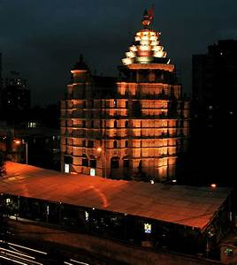 Siddhivinayak Temple in the night