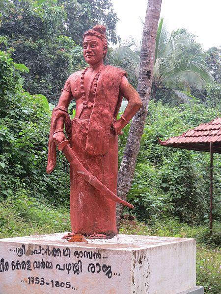 Pazhassiraja statue at the temple