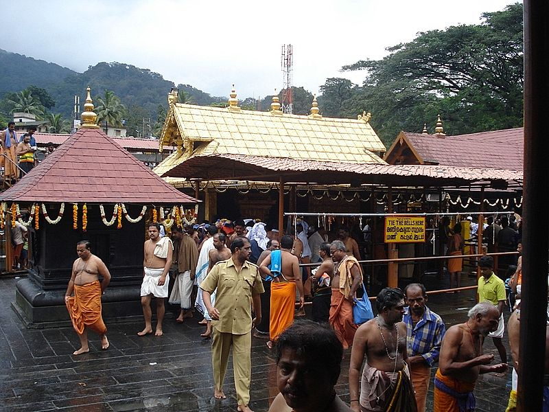 Inside the Sabarimala Temple