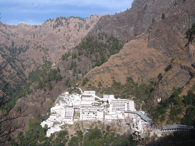 Vaishno Devi Temple amidst the Trikuta mountains