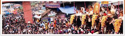 The famous festival of Thirumandhamkunnu Temple