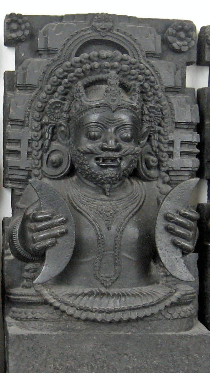 A statue of Rahu_rahu and ketu