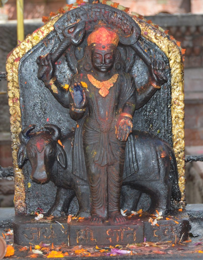 The Shani Beej Mantra is dedicated to Shani devto him