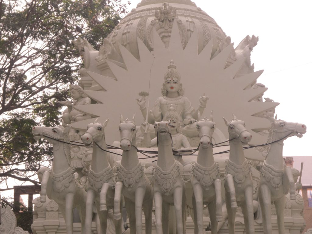 statue of surya dev and the sun in vedic astrology