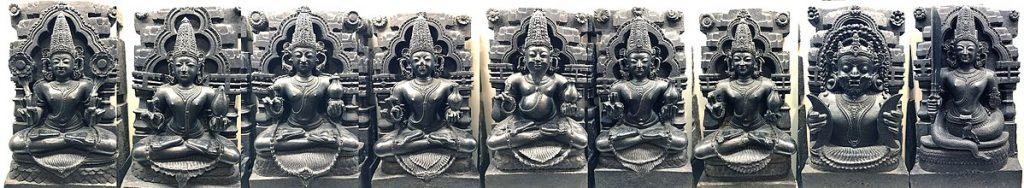 Sculptures of the Navagrahas