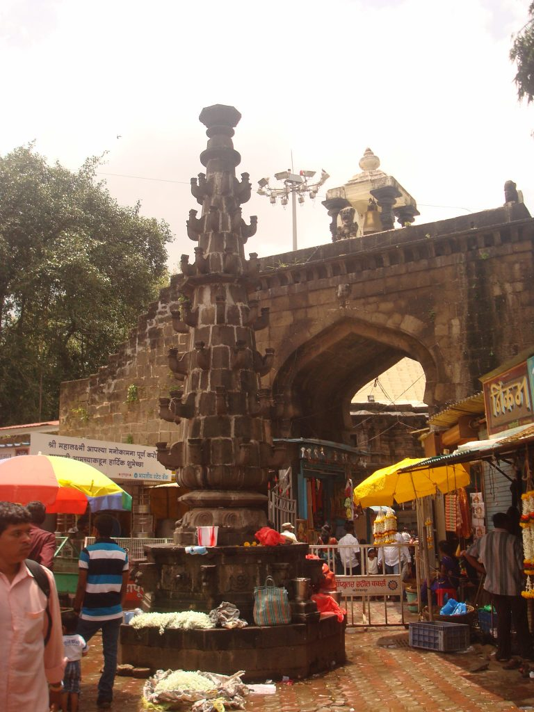 entrance of mahalakshmi temple kolhapur.