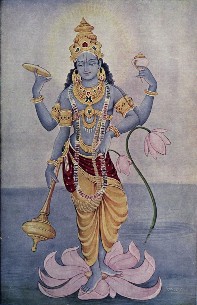 Lord Vishnu to whom the nama traya astra mantra is dedicated to