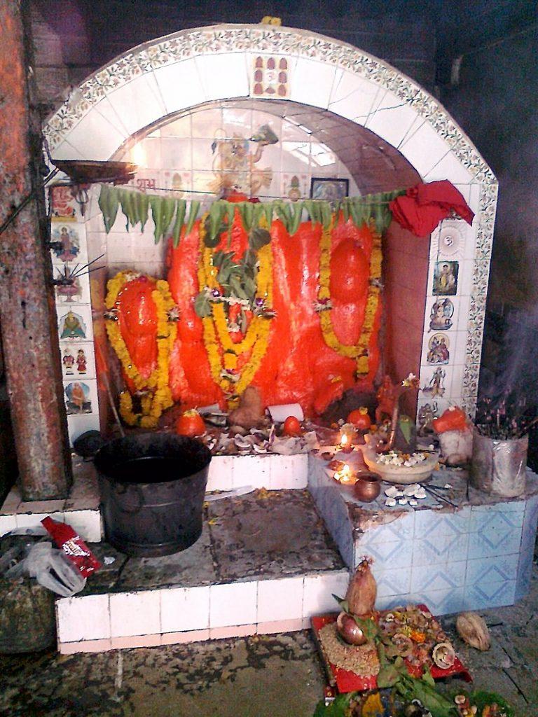 Idol decoration during hanuman jayanti