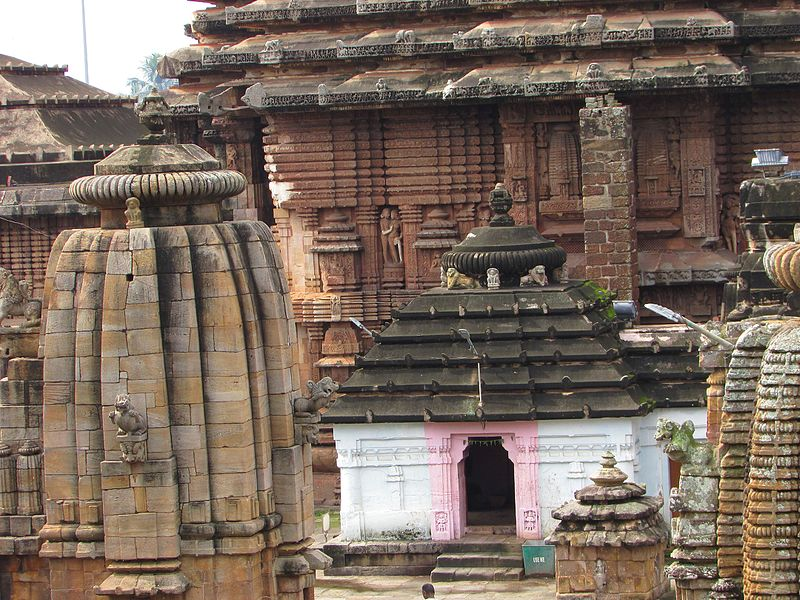 The shrines of Lingaraj temple