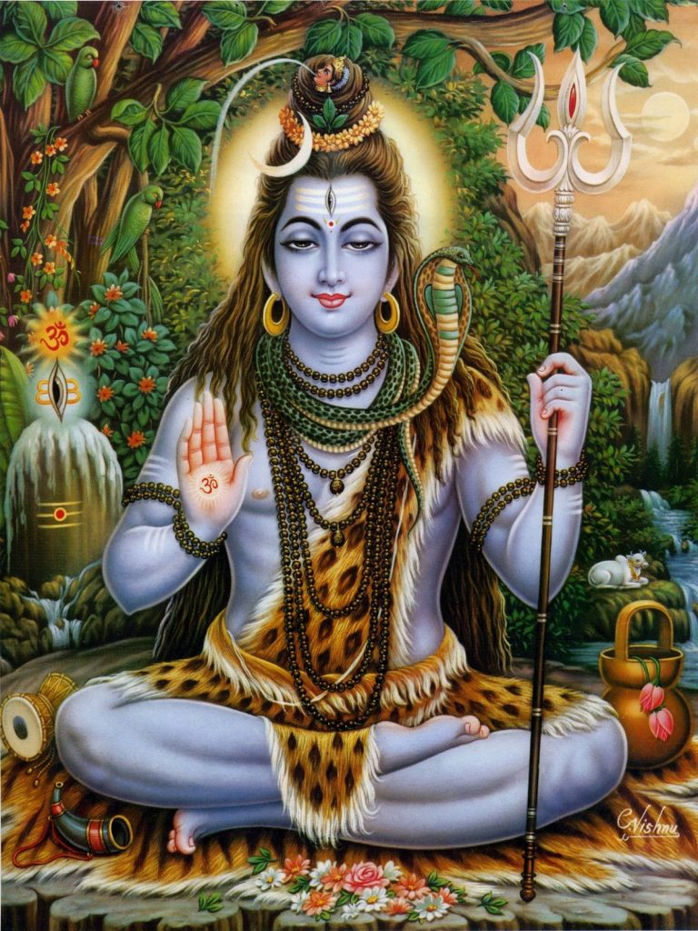 Lord Shiva also known as Neela Kanta chanted the nama traya astra mantra