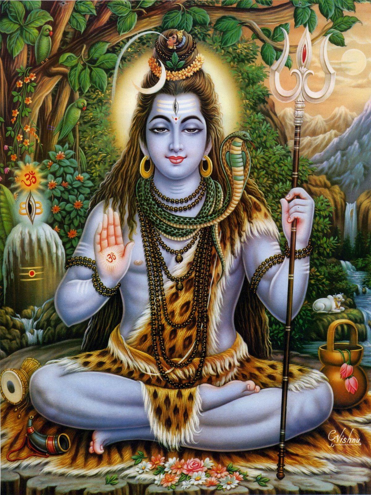 Lord Shiva chanted the nama traya astra mantra