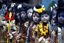 Children as lord Shiva