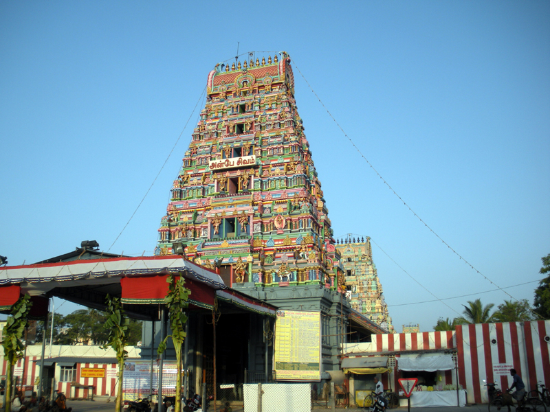 Marundeeswarar temple's entrance