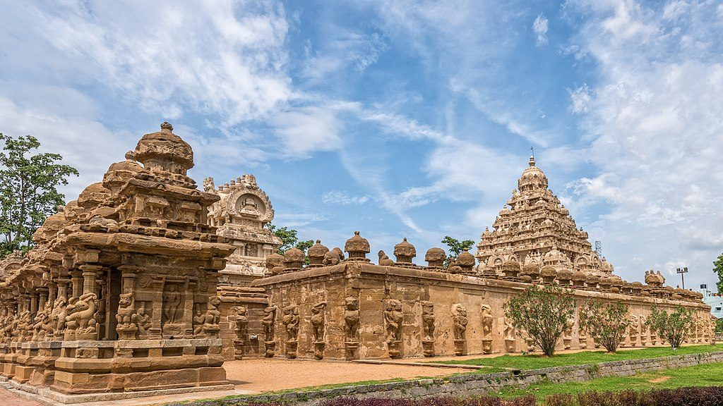 Outer View of the Magnificent Kanchi Kailasanathar Temple