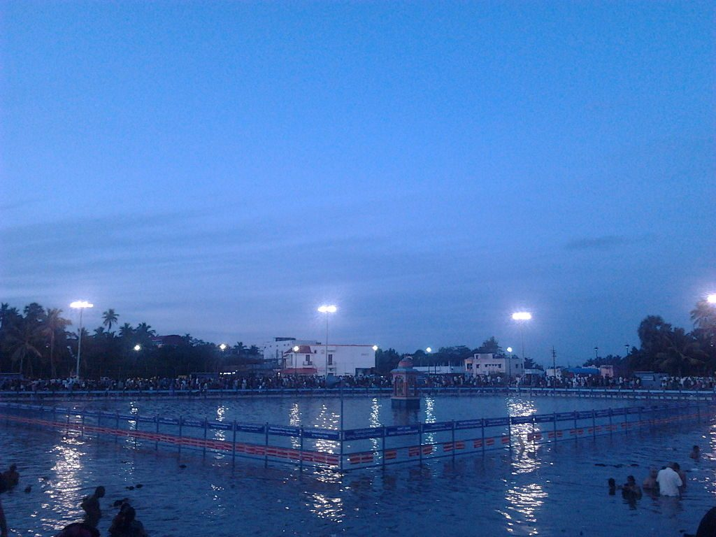 Temple pond nala theertham at thirunallar temple