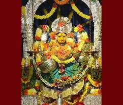 Deity at Wargal Saraswati Temple
