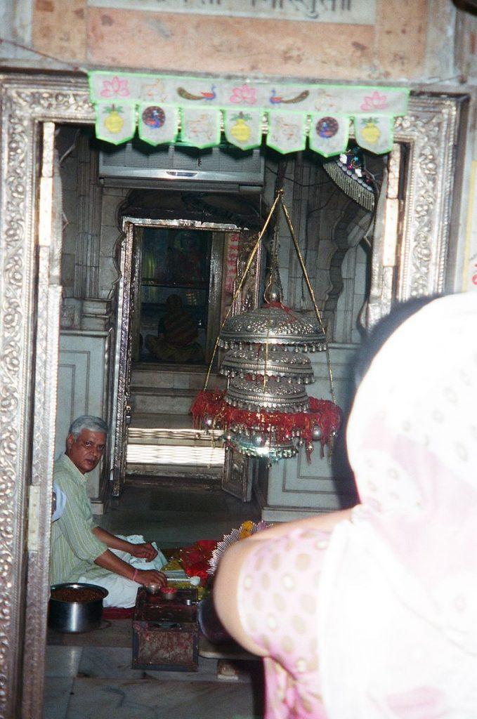 Sanctum within Yogmaya temple