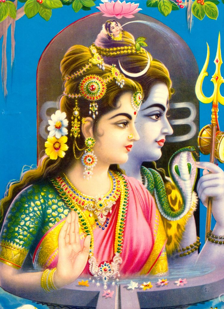 A picture of love at the occasion of Basant Panchami- Lord Shiva and Parvathi