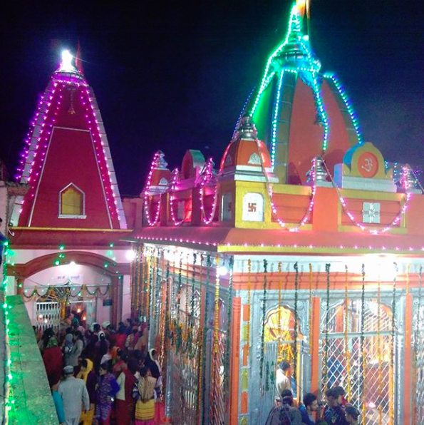 Kamleshwar mahadev mandir during celebrations.