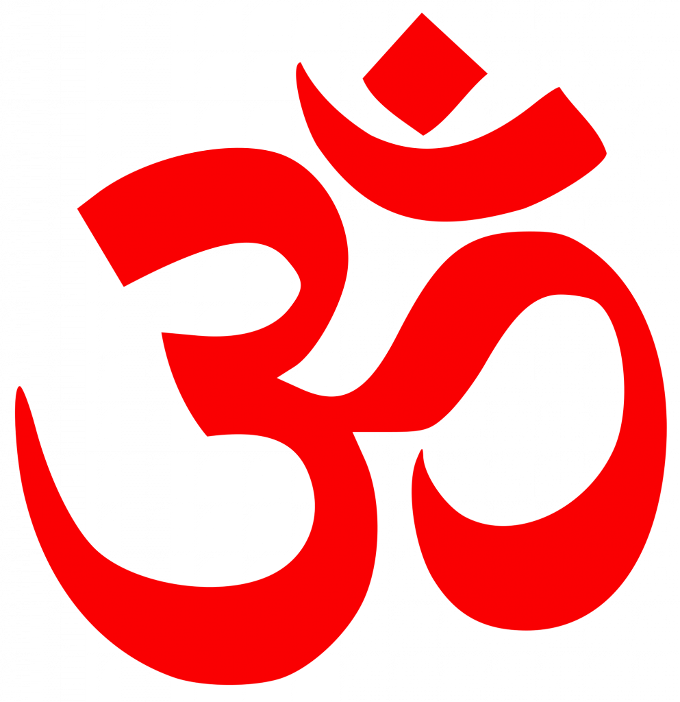 Om the sansksrit word at the start of Gayatri mantra.