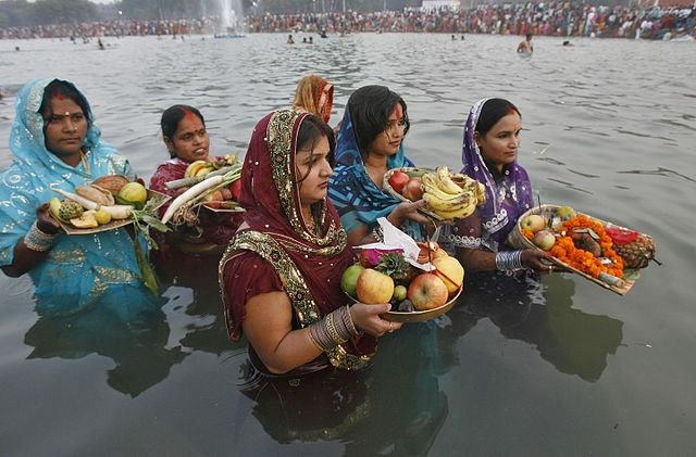 Women Offering Chhath Puja