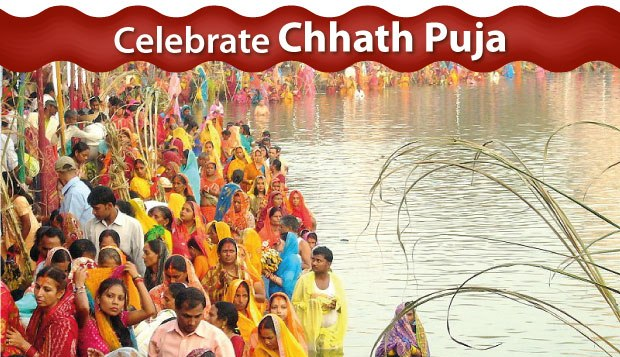 Celebrating  Chhath