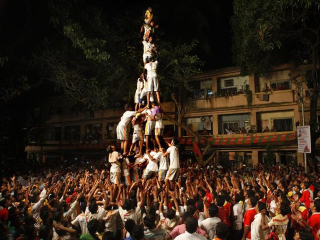 The grand celebration of Dahi Handi during Bhadra