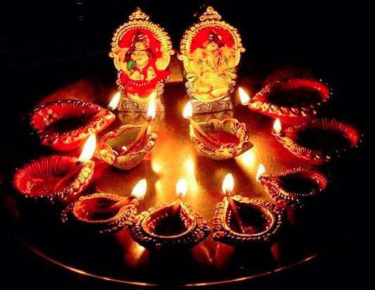 Diwali - Lakshmi and Ganesha