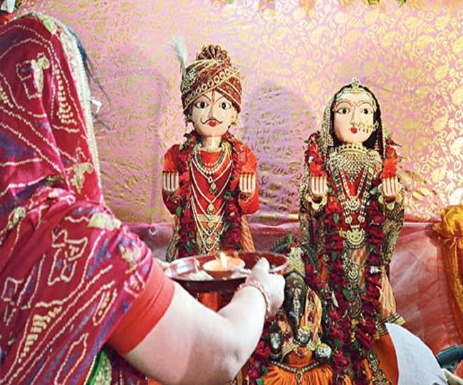 Gangaur puja in the Chaitra month