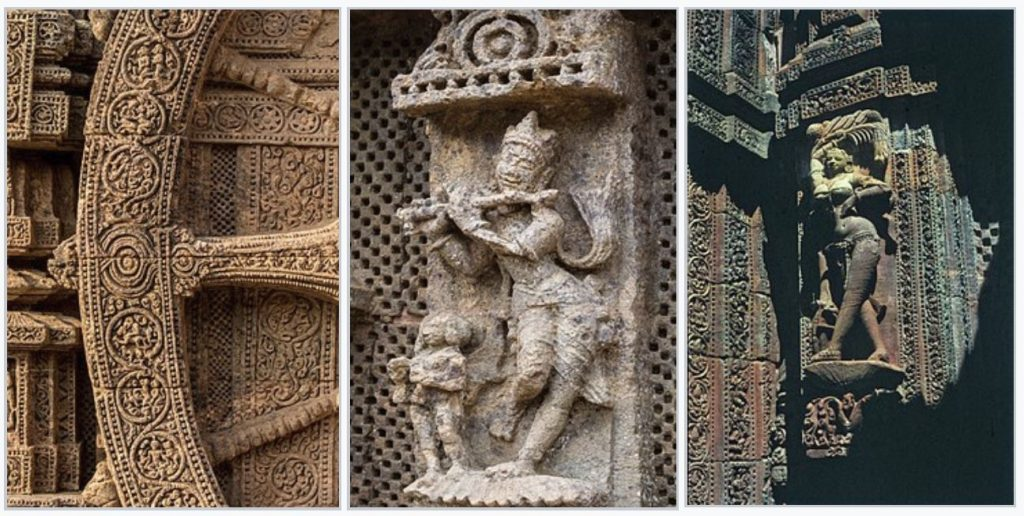 Images from the famous sun temple at Konark