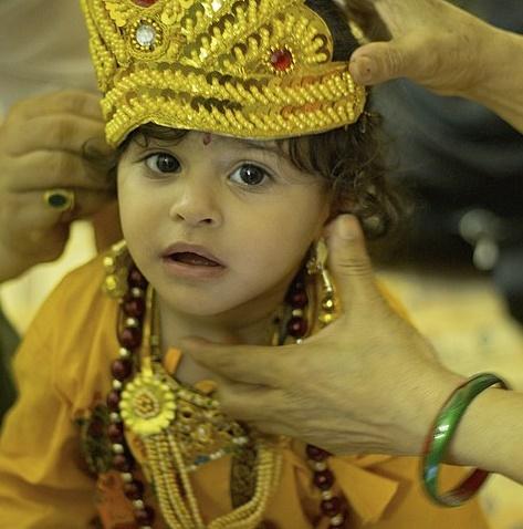 Krishna Janmashtami - Boy dressed as Krishna