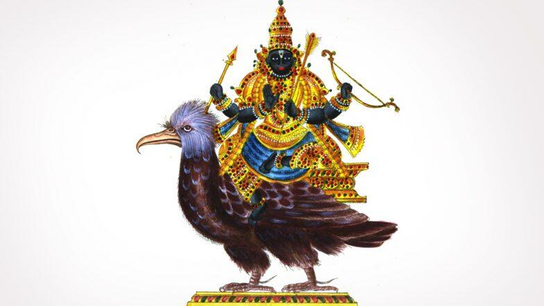This images represents Lord Shani