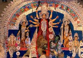 Goddess Durga and her family